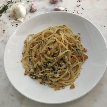 Spicy Garlic Spaghetti